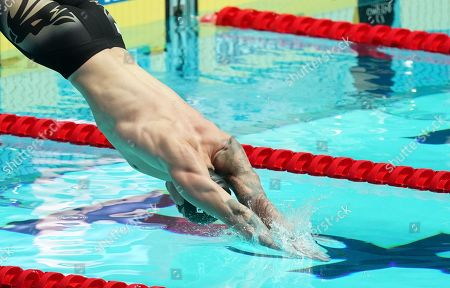 Adam Peaty of Great Britain at the start of the men's 50m Breaststroke final of the swimming competitions at the Gwangju 2019 Fina World Championships, Gwangju, South Korea, 24 July 2019.