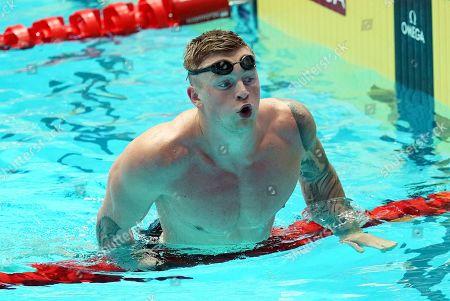 Adam Peaty of Great Britain after winning the men's 50m Breaststroke final of the swimming competitions at the Gwangju 2019 Fina World Championships, Gwangju, South Korea, 24 July 2019.