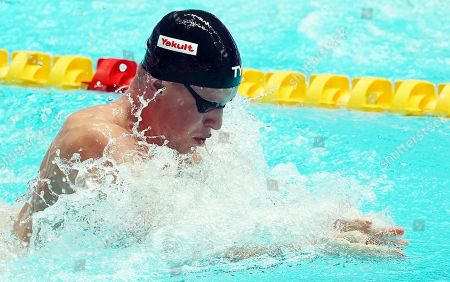 Adam Peaty of Great Britain in action on his way winning the men's 50m Breaststroke final of the swimming competitions at the Gwangju 2019 Fina World Championships, Gwangju, South Korea, 24 July 2019.