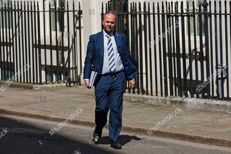 British Chief of Staff, Gavin Barwell walks through Downing Street before getting in the car to accompany British Prime Minister Theresa May as she leaves 10 Downing Street for her last Prime Minister's Question (PMQs) at parliament in London, Britain, 24 July 2019. Theresa May is stepping down as British Prime Minister following her resignation as Conservative Party leader on 07 June. Former London mayor and foreign mnister Boris Johnson is taking over the post after he was elected party leader the previous day.