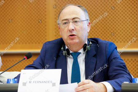 Jose Manuel Fernandes - Budget committee meeting at the European Parliament in Brussels.