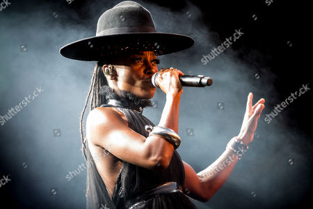 A British singer and songwriter, Skye Edwards of Morcheeba Band performs live on stage during a MEO Marés Vivas Festival in Porto.