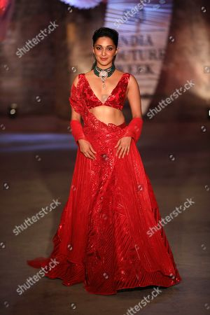 Kiara Advani on the catwalk