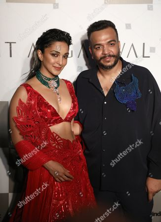 Kiara Advani with designer Amit Aggarwal