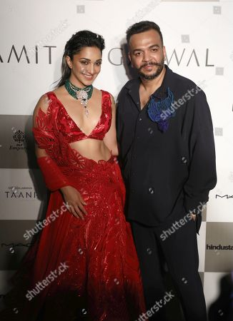 Stock Picture of Kiara Advani with designer Amit Aggarwal