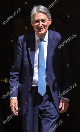 The Chancellor of The Exchequer Philip Hammond leaves 11 Downing Street before Prime Minister's Questions
