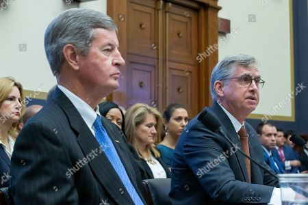Kelly King (L), chairman and CEO of BB&T Corporation and William Rogers Jr (R), chairman and CEO of SunTrust Banks testify before the House Financial Services Committee on 'The Next Megabank? Examining the Proposed Merger of SunTrust and BB&T' in the Rayburn House Office Building in Washington, DC, USA, 24 July 2019. If the BB&T and SunTrust merger is approved, the new bank would be named Truist Bank. The deal would create the sixth-largest bank in the United States.