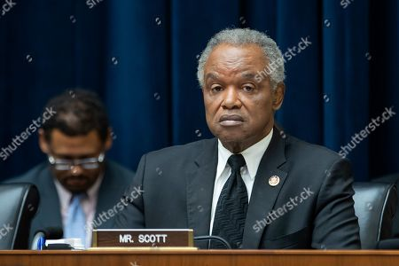 Democratic Representative from Georgia David Scott attends the testimony of Kelly King, chairman and CEO of BB&T Corporation and William Rogers Jr, chairman and CEO of SunTrust Banks before the House Financial Services Committee on 'The Next Megabank? Examining the Proposed Merger of SunTrust and BB&T' in the Rayburn House Office Building in Washington, DC, USA, 24 July 2019. If the BB&T and SunTrust merger is approved, the new bank would be named Truist Bank.The deal would create the sixth-largest bank in the United States.