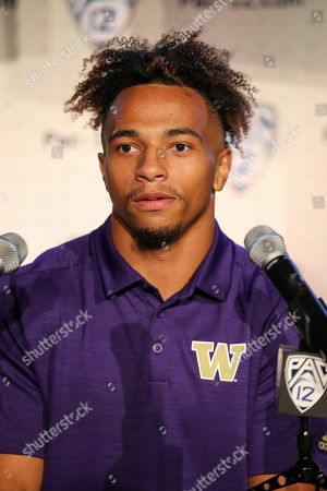 Hollywood CA,..Washington Huskies defensive back Myles Bryant during the PAC-12 Media Day at the Ray Dolby Ballroom located within Hollywood & Highlands (Photo by Jevone Moore)