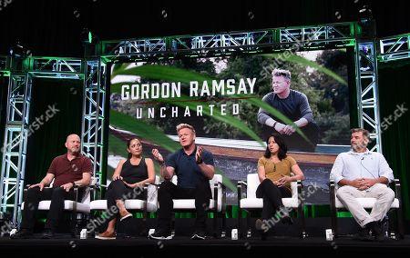 Stock Picture of Jon Kroll, Kimi Werner, Gordon Ramsay, Monique Fiso, Mick O?Shea