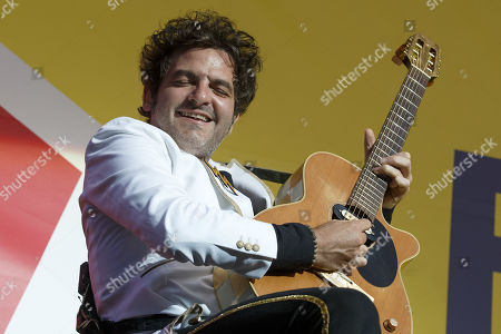 Matthieu Chedid, known as M, performs during the 44th edition of the Paleo Festival in Nyon, Switzerland, 24 July 2019. The Paleo is an open-air music festival in the western part of Switzerland that runs from 23 to 28 July.