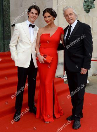 Dylan Michael Douglas, Catherine Zeta-Jones and Michael Douglas