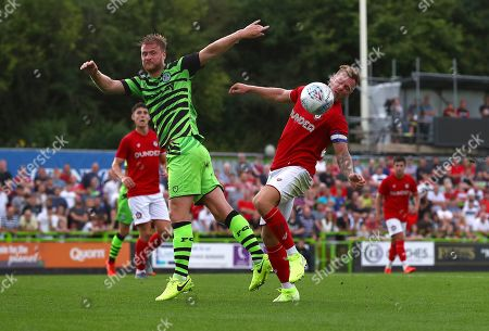 Matthew Mills of Forest Green Rovers and Tomas Kalas of Bristol City in action
