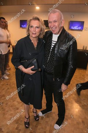 Jennifer Saunders and Jean Paul Gaultier