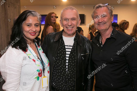 Stock Image of Rina Gill, Jean Paul Gaultier and Garry McQuinn