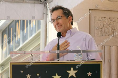 Gary Marsh speaks at the ceremony honoring Kenny Ortega with a star at the Hollywood Walk of Fame, in Los Angeles
