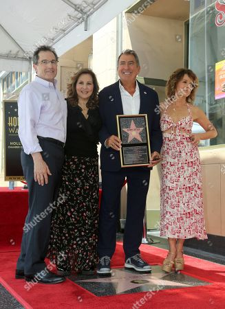 Gary Marsh, Kathy Najimy, Kenny Ortega, Jennifer Grey. Gary Marsh, from left, Kathy Najimy, Kenny Ortega and Jennifer Grey pose with a star miniaturette at the ceremony honoring Kenny Ortega with a star at the Hollywood Walk of Fame, in Los Angeles
