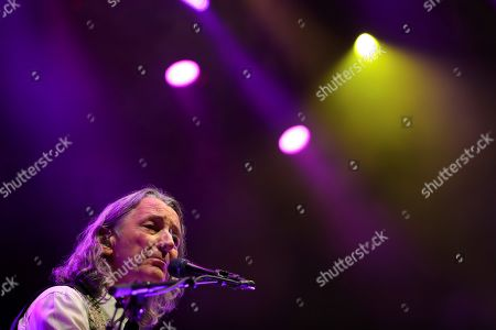 British musician and founder of British band Supertramp Roger Hodgson performs on stage during his concert at the Las Noches del Botanico Festival in Madrid, Spain, 24 July 2019.