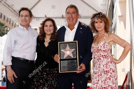 President of Disney Channels Worldwide Gary Marsh, US actress Kathy Najimy, US producer Kenny Ortega and US actress Jennifer Grey pose together during the unveiling of Ortegaâ??s 2,667th Star on the Hollywood Walk of Fame in Hollywood, California, USA, 24 July 2019. The star was dedicated in the Category of Motion Pictures.