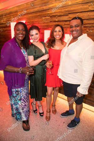 Stock Picture of Sharon D Clarke (The Lady), Gemma Sutton (The Girl), Debbie Kurup (The Woman) and Clive Rowe (The Man)
