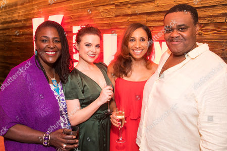 Sharon D Clarke (The Lady), Gemma Sutton (The Girl), Debbie Kurup (The Woman) and Clive Rowe (The Man)