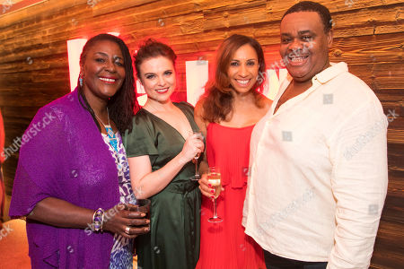 Stock Image of Sharon D Clarke (The Lady), Gemma Sutton (The Girl), Debbie Kurup (The Woman) and Clive Rowe (The Man)