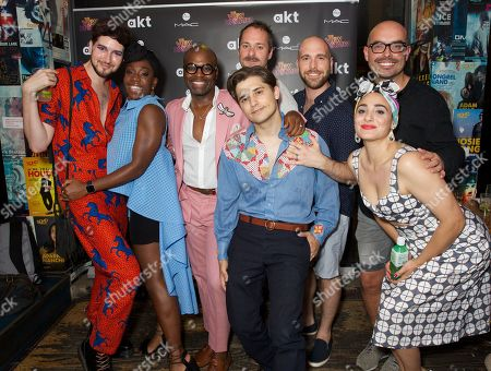 Stock Picture of Max Vernon, Carly Mercedes Dyer, Cedric Neal, Andy Mientus, Declan Bennett, Joseph Prouse, Victoria Hamilton-Barritt and Jonathan O'Boyle