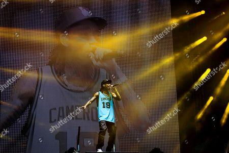 Editorial photo of Wiz Khalifa in concert, Toronto, Canada - 23 Jul 2019