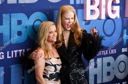 "Reese Witherspoon, Nicole Kidman. Executive producers Reese Witherspoon, left, and Nicole Kidman attend the premiere of HBO's ""Big Little Lies"" season two at Jazz at Lincoln Center in New York. HBO programming chief Casey Bloys said that he's looking at the possibility of another season of ""Big Little Lies"" with skepticism. Bloys told a TV critics' meeting Wednesday, July 24, 2019, that he doesn't see an obvious story to pursue for a third season"
