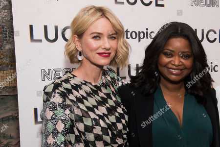 """Octavia Spencer, Naomi Watts. Naomi Watts, left, and Octavia Spencer attend the premiere of """"Luce"""" at The Whitby Hotel, in New York"""