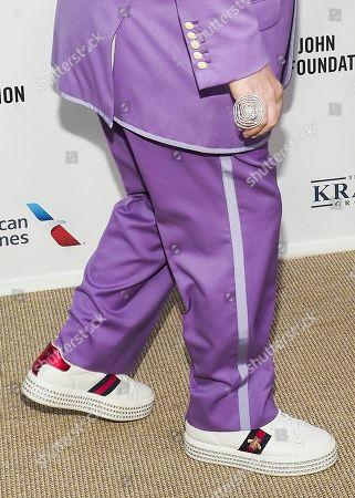 Stock Image of Sir Elton John, shoe detail