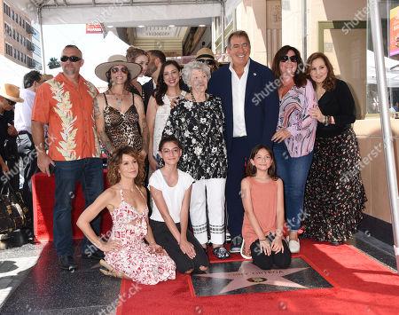 Kenny Ortega is joined by Kathy Najimy, Jennifer Grey, Madeline Ortega and family