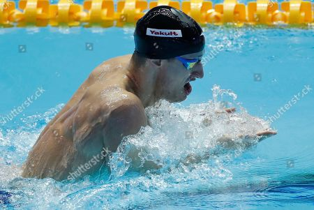 United States' Andrew Wilson swims in his men's 200m breaststroke semifinal at the World Swimming Championships in Gwangju, South Korea