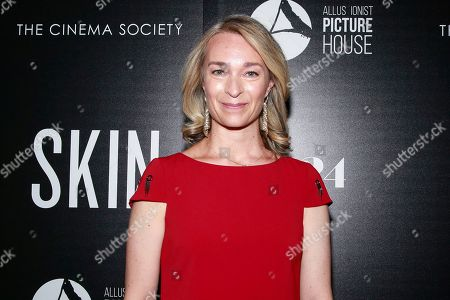 """Celine Rattray attends a special screening of """"Skin,"""" hosted by A24 and Allusionist Picture House with The Cinema Society, at The Roxy Cinema, in New York"""