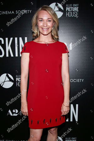 """Stock Picture of Celine Rattray attends a special screening of """"Skin,"""" hosted by A24 and Allusionist Picture House with The Cinema Society, at The Roxy Cinema, in New York"""