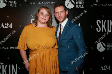 "Danielle MacDonald, Jamie Bell. Danielle MacDonald and Jamie Bell attend a special screening of ""Skin,"" hosted by A24 and Allusionist Picture House with The Cinema Society, at The Roxy Cinema, in New York"