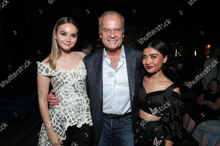"""Liana Liberato, Kelsey Grammer - Exec. Producer and Brianne Tju attend AwesomenessTV's celebration for the second season premiere of their Hulu series, """"Light as a Feather"""" at Hyde Sunset on Wednesday, July 24th"""