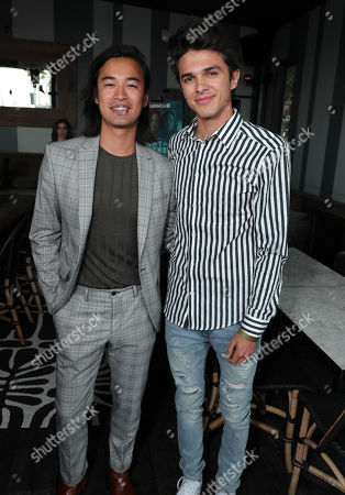"Jordan Rodrigues and Brent Rivera attend AwesomenessTV's celebration for the second season premiere of their Hulu series, ""Light as a Feather"" at Hyde Sunset on Wednesday, July 24th"