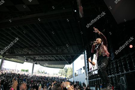 Editorial image of Three Days Grace in concert at DTE Energy Music Theatre, Clarkston, USA - 24 Jul 2019