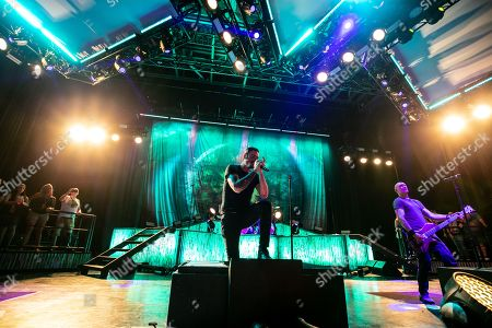 Editorial photo of Breaking Benjamin in concert at DTE Energy Music Theatre, Clarkston, USA - 24 Jul 2019