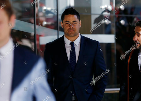 Stock Picture of Former Austrlian National Rugby Leage (NRL) player Jarryd Hayne (C) leaves the Newcastle Court in Newcastle, New South Wales, Australia, 25 July 2019. Jarryd Hayne is facing aggravated sexual assault charges.