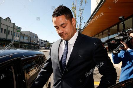 Editorial photo of Former Austrlian NRL player Jarryd Hayne on trial for aggravated sexual assault, Newcastle, Australia - 25 Jul 2019