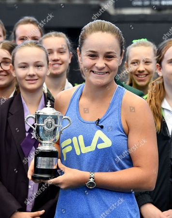Editorial picture of Ashleigh Barty arrives back in Australia, Brisbane - 25 Jul 2019