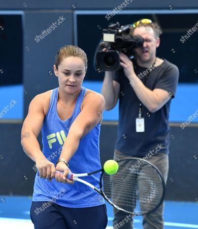 Editorial image of Ashleigh Barty arrives back in Australia, Brisbane - 25 Jul 2019