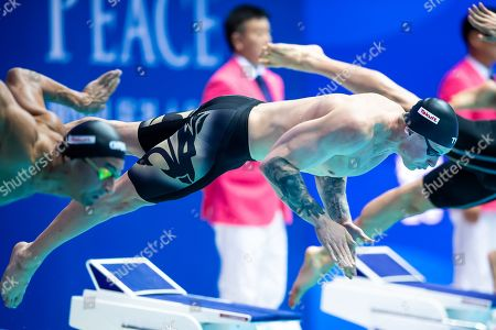 Adam Peaty of Great Britain during the Men's 50m Breaststroke finals