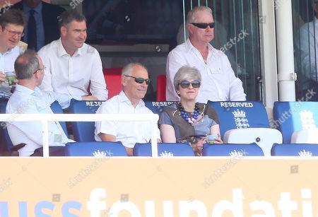 Greg Clark, Gavin Barwell and David Gauke, Theresa May (MP and Ex PM) watch the cricket