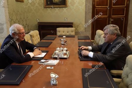Editorial image of Acting Foreign Affairs Minister meets with European MP Leopoldo Lopez, Madrid, Spain - 25 Jul 2019