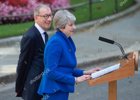 Prime Minister Theresa May and husband Philip May in Downing Street