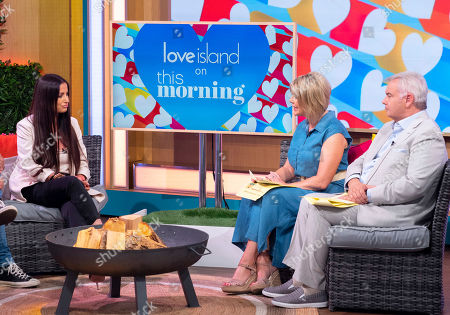 Chantelle Houghton with Ruth Langsford and Eamonn Holmes