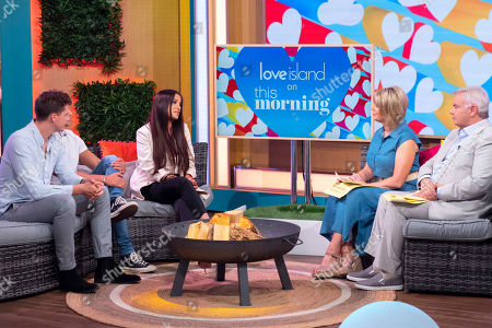 Dr Alex George, Eyal Booker and Chantelle Houghton with Ruth Langsford and Eamonn Holmes